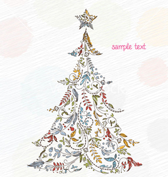 Free doodles christmas greeting card vector - Kostenloses vector #258695