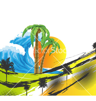 Free summer background vector - бесплатный vector #258825