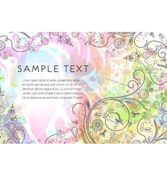Free colorful floral background vector - бесплатный vector #258835