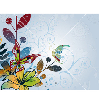 Free abstract floral background vector - vector #258845 gratis