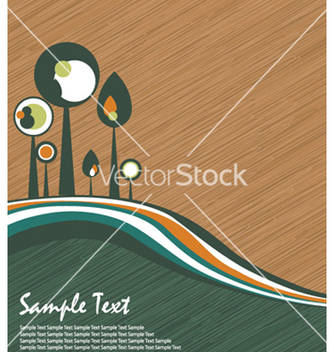 Free abstract trees vector - Free vector #258855