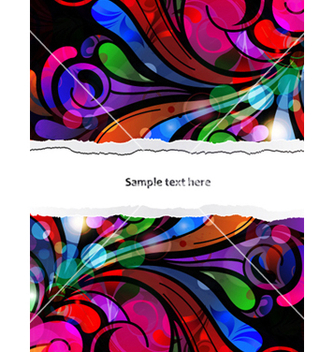 Free abstract background with colorful swirls vector - vector #259125 gratis