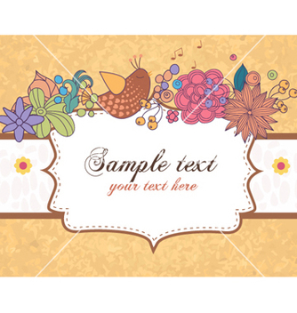 Free abstract frame with flowers vector - vector #259205 gratis