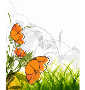 Free colorful floral background vector - Kostenloses vector #259215