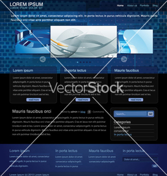 Free website template vector - Free vector #259395