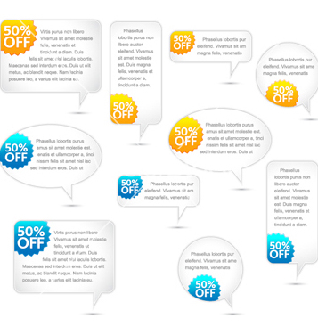 Free speech bubbles set vector - Free vector #259885