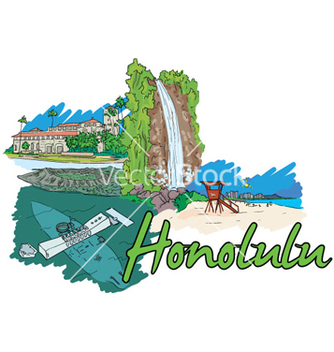 Free honolulu doodles vector - бесплатный vector #259965