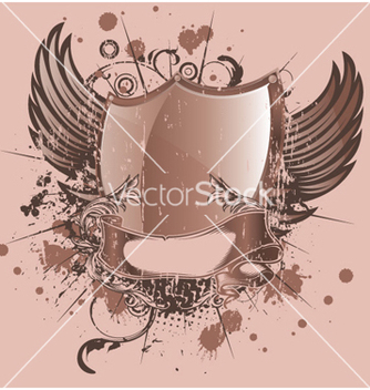 Free vintage emblem with shield vector - Kostenloses vector #260075