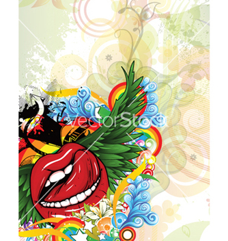 Free grunge background with mouth vector - Kostenloses vector #260125