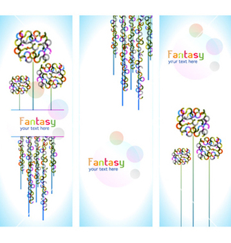 Free colorful abstract banners vector - Free vector #260225