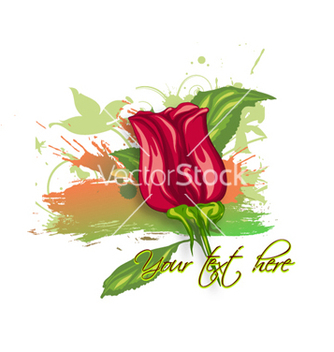 Free rose with grunge vector - vector gratuit #260395