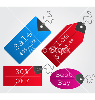 Free colorful shopping tags set vector - Kostenloses vector #260415