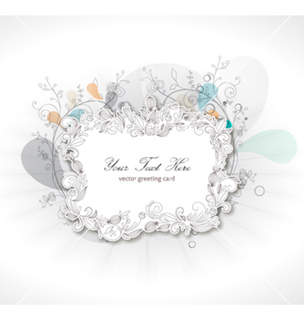 Free abstract floral frame vector - Free vector #260425