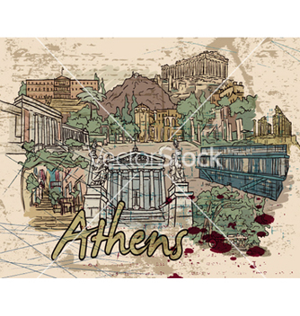 Free athens doodles vector - Free vector #260505
