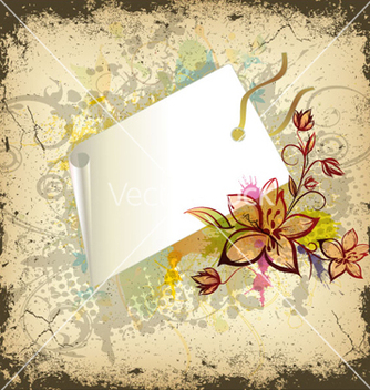 Free floral with shopping tag vector - бесплатный vector #260745