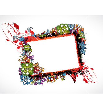 Free colorful grunge floral frame vector - Kostenloses vector #260755