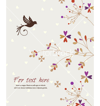 Free bird with floral vector - vector #260835 gratis