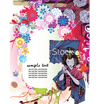 Free japanese grunge floral background vector - Free vector #261115
