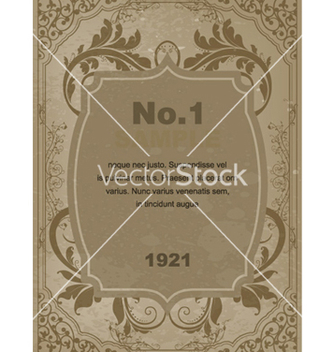 Free vintage label with floral vector - Kostenloses vector #261145