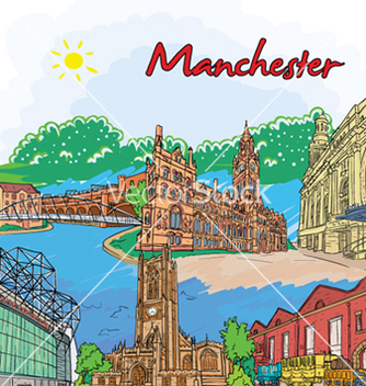 Free manchester doodles vector - Free vector #261195