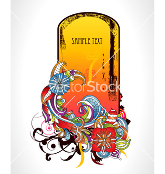 Free abstract floral frame vector - Free vector #261285