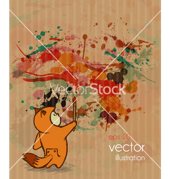 Free cute kid with grunge background vector - Kostenloses vector #261345