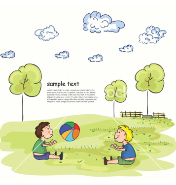 Free kids playing vector - Free vector #261365