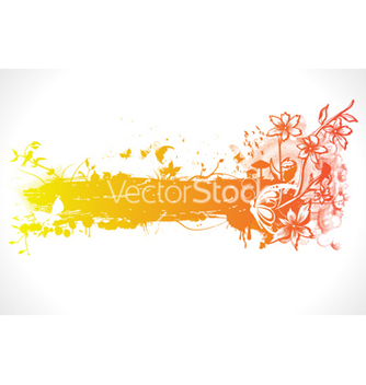 Free colorful spring floral frame vector - Free vector #261435