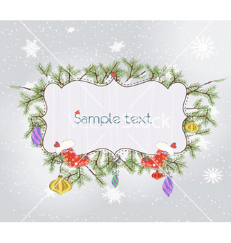 Free christmas frame vector - Free vector #261525