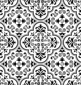 Free arabesque seamless pattern vector - Free vector #261555
