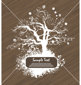 Free abstract tree with grunge vector - Free vector #261585