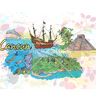 Free cancun doodles vector - бесплатный vector #261655