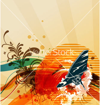 Free grunge summer background vector - Free vector #261665
