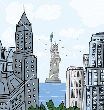 Free new york cartoon background vector - vector gratuit #261785