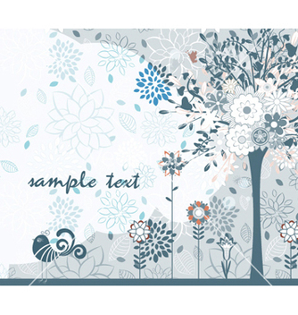 Free spring floral background vector - Kostenloses vector #261815