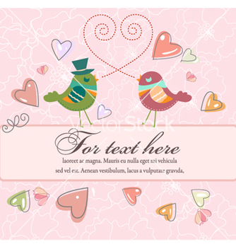 Free love birds with frame vector - Kostenloses vector #261855