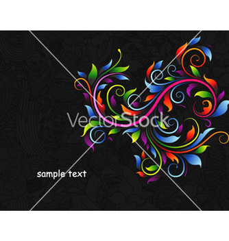 Free abstract floral background vector - Free vector #261875