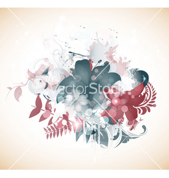 Free abstract floral background vector - Free vector #261925