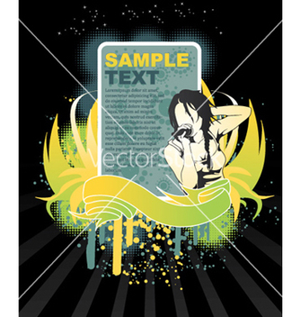 Free music frame vector - Free vector #262075
