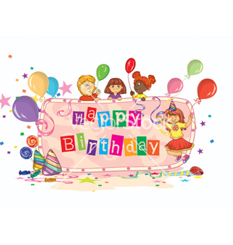 Free kids birthday party vector - vector gratuit #262145