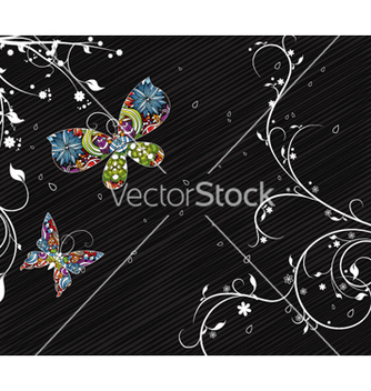 Free abstract floral background vector - Free vector #262435