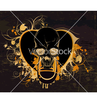 Free skull with floral vector - Kostenloses vector #262595