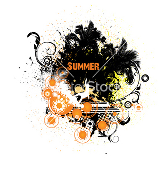 Free grunge summer vector - Free vector #262665