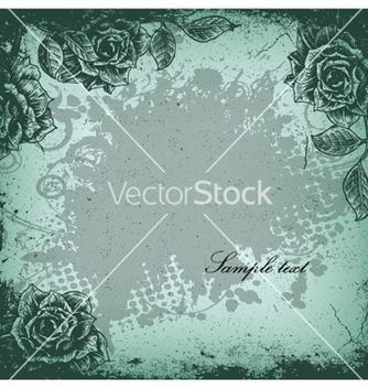 Free grunge floral background vector - vector gratuit #262775
