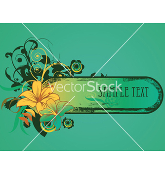 Free retro grunge floral frame vector - Kostenloses vector #262845