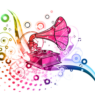 Free colorful music poster vector - vector gratuit #262905