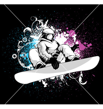 Free snowboarder vector - Free vector #262925