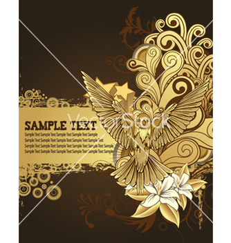 Free hummingbird with floral background vector - vector gratuit #263005