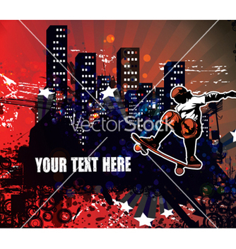 Free urban background vector - Free vector #263025
