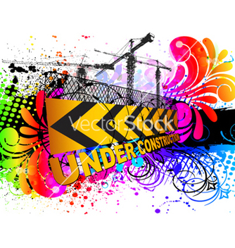 Free colorful under construction sign vector - Kostenloses vector #263075